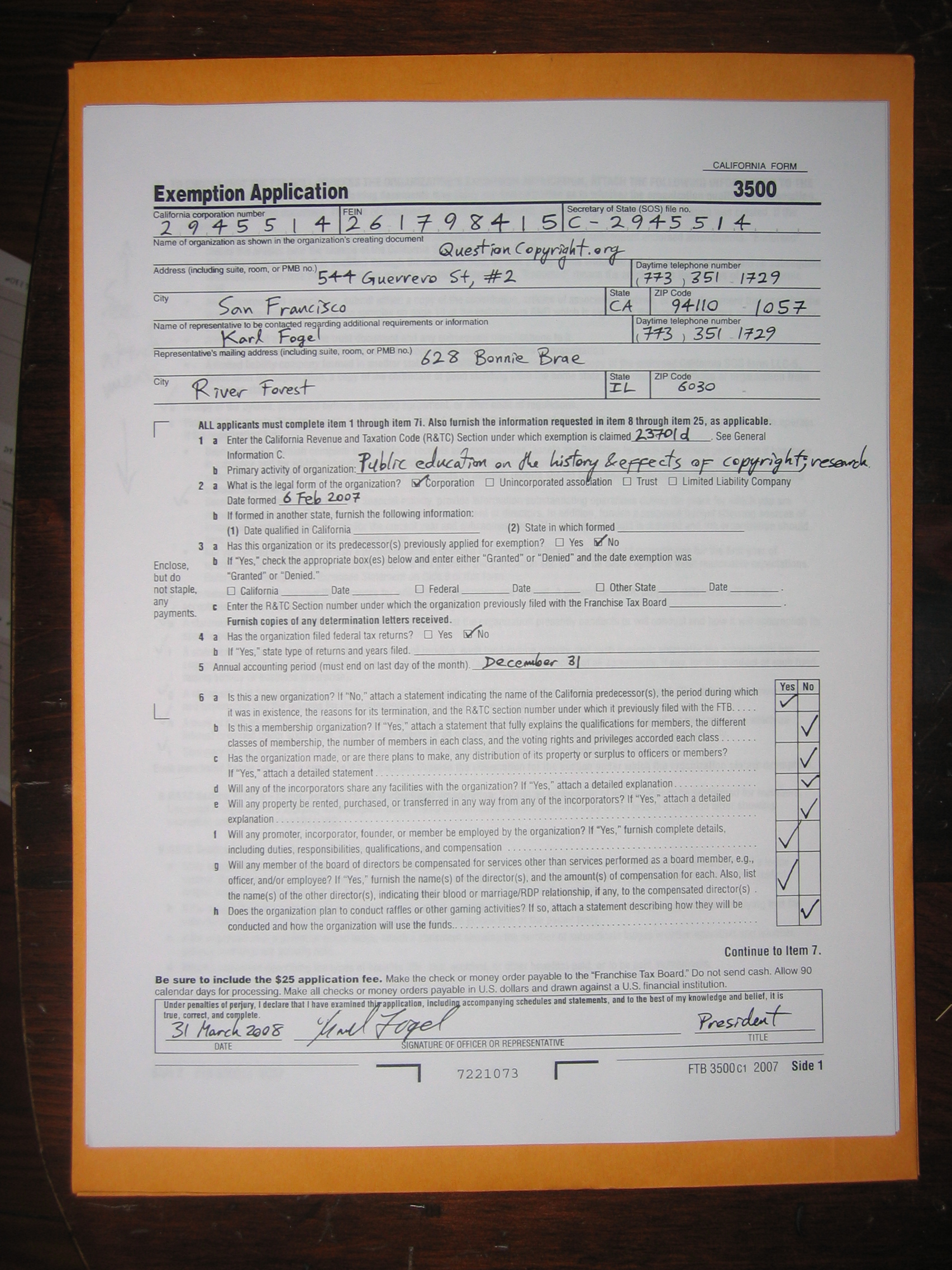 Corporate documents tax returns etc questioncopyright form 3500 checklist 1betcityfo Image collections