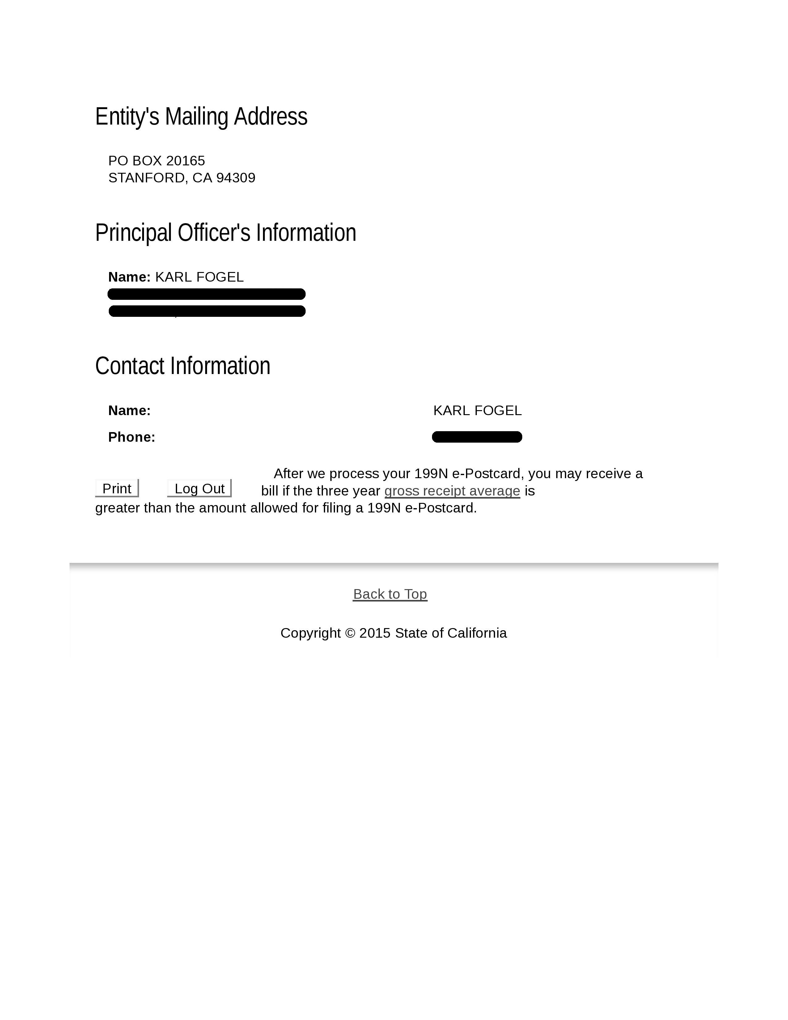 Corporate Documents, Tax Returns, Etc.   QuestionCopyright.org