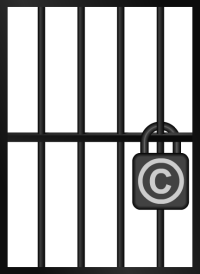 Copyright Jail (Transparent Image of Empty Jail Cell)