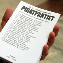 Swedish Pirate Party ballot
