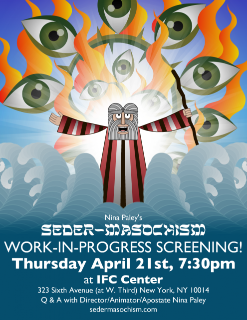 Seder-Masochism Work-in-Progress Screening Poster